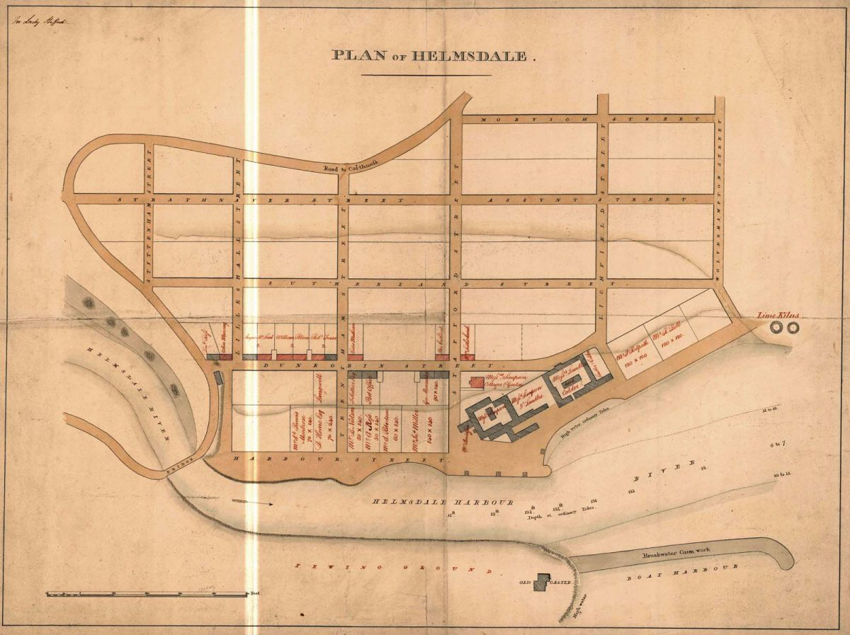 Plan of Helmsdale for Lady Stafford, dated c.1815. Sutherland Estate (NLS)