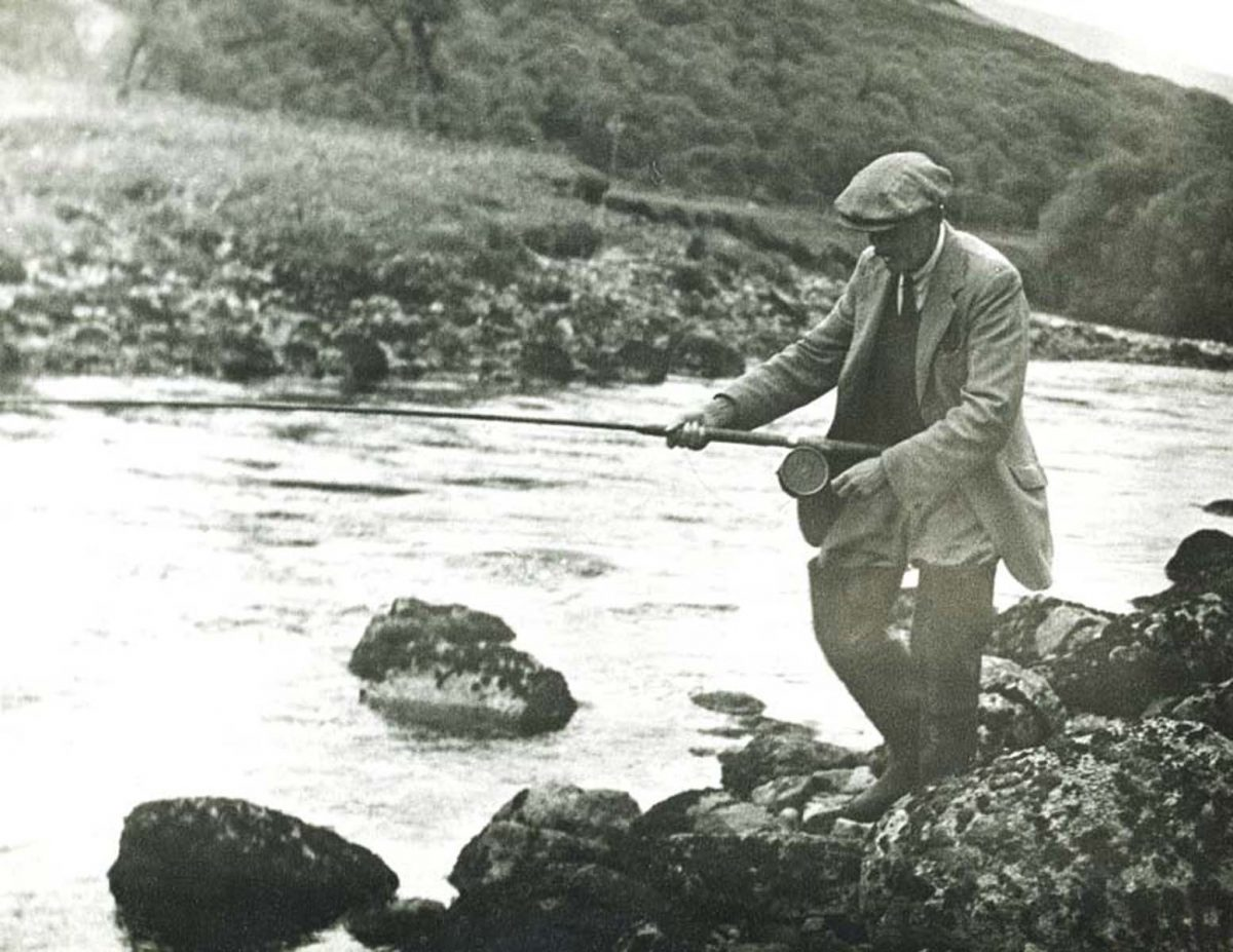 Fishing on the Helmsdale River, c.1940s