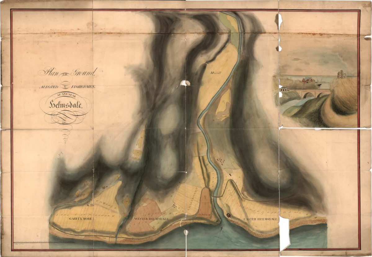 Helmsdale map 1817 Plan of Ground Allotted to Fishermen by W. Forbes, 1817. Sutherland Estates (NLS)
